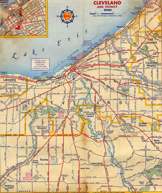 cleveland maps