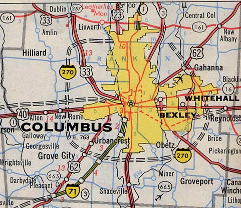 Map Of Columbus Ohio  MAP2