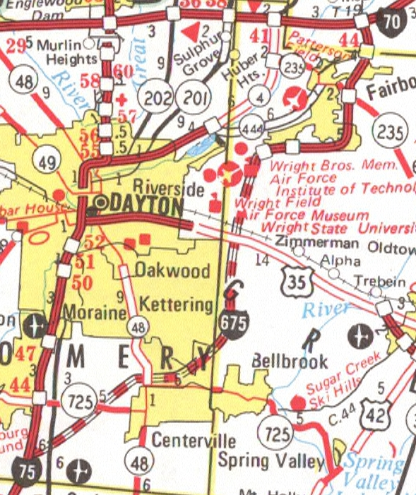 Ohio Highway Page - Map of us 70 exit 33 in ohio